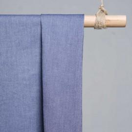 achat Tissu oxford bleu nuit et blanc  - pretty mercerie - mercerie en ligne