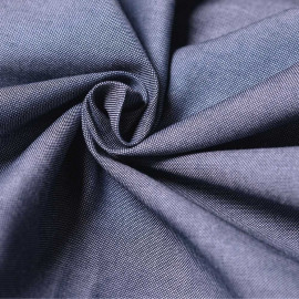 Tissu oxford bleu nuit et blanc x 10cm