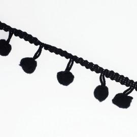 Galon Pompon noir