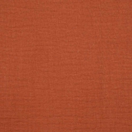 achat tissu double gaze de coton orange mecque - pretty mercerie - mercerie en ligne
