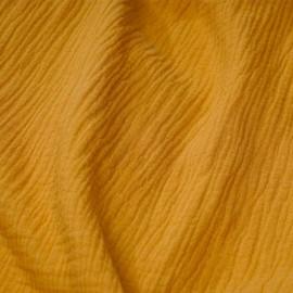 tissu double gaze de coton inca gold x 10 cm