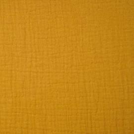 achat tissu double gaze de coton inca gold - pretty mercerie - mercerie en ligne
