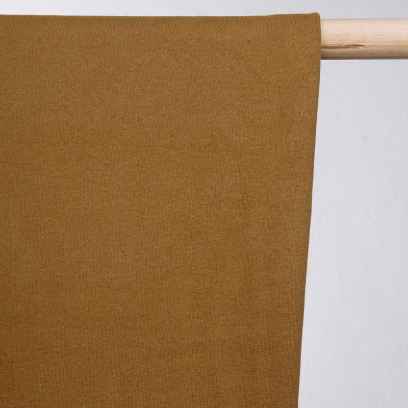 achat tissu sweat brun - pretty mercerie - mercerie en ligne