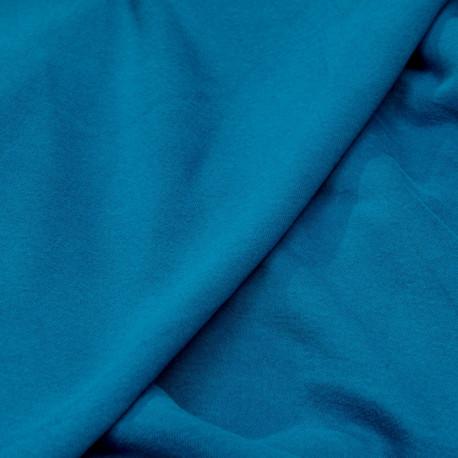 achat tissu sweat bleu mosaïque  - pretty mercerie - mercerie en ligne