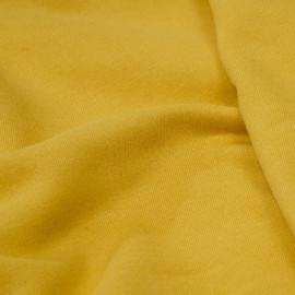 Tissu sweat jaune souffre x 10cm