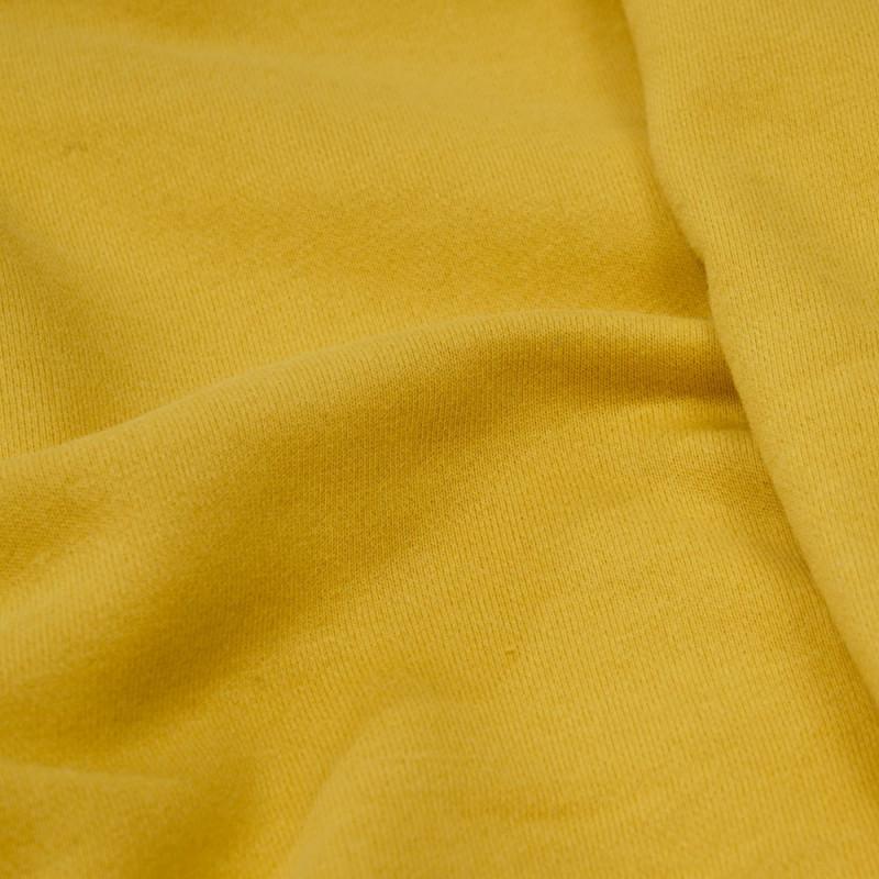 achat tissu sweat jaune souffre  - pretty mercerie - mercerie en ligne