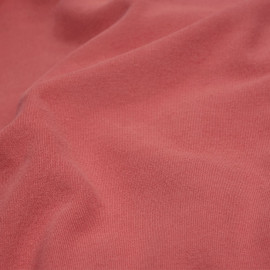 Tissu sweat rose cranberry x 10cm