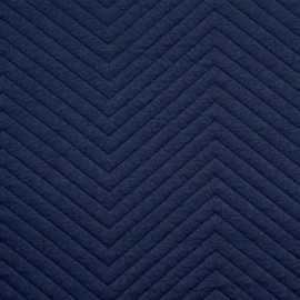 achat tissu jersey matelassé chevron bleu estate - pretty mercerie - mercerie en ligne