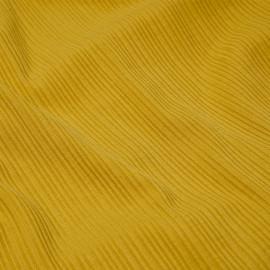 Tissu jersey côtelé viscose moutarde x 10cm