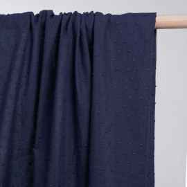 achat tissu coton plumetis bleu  - pretty mercerie - mercerie en ligne