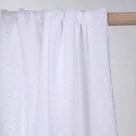 achat tissu coton plumetis blanc  - pretty mercerie - mercerie en ligne