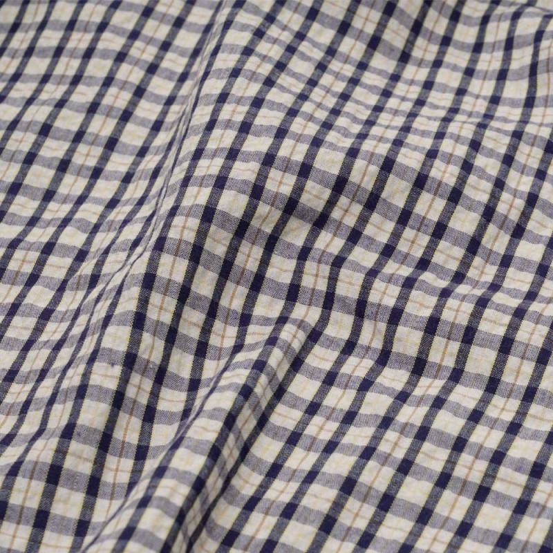 199c40543baa achat tissu seersucker à carreaux bleu