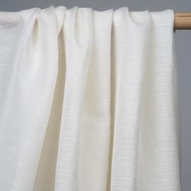 achat tissu soie tissé et ajouré blanc cassé - pretty mercerie - mercerie en ligne