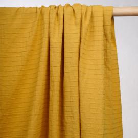 achat tissu coton inca gold lignes tissés - pretty mercerie -mercerie en ligne