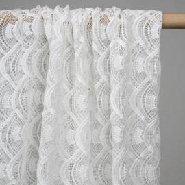 achat tissu guipure éventail blanc - pretty mercerie - mercerie ne ligne