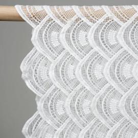 achat tissu dentelle éventail blanc - pretty mercerie - mercerie ne ligne