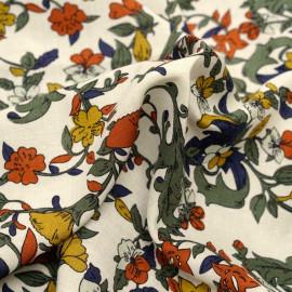 Tissu viscose à motif rustic flowers x 10 cm