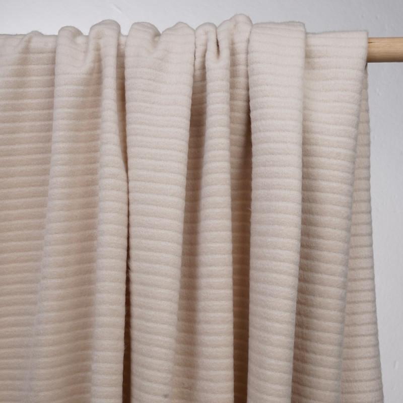 achat tissu laine et angora sable - pretty mercerie - mercerie en ligne