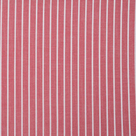 achat tissu coton tissé rayé rouge et blanc - pretty mercerie - mercerie en ligne