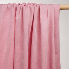 achat tissu coton tissé rouge à pois blanc - pretty mercerie - mercerie en ligne
