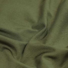 Tissu jersey bambou vert kaki x 10cm