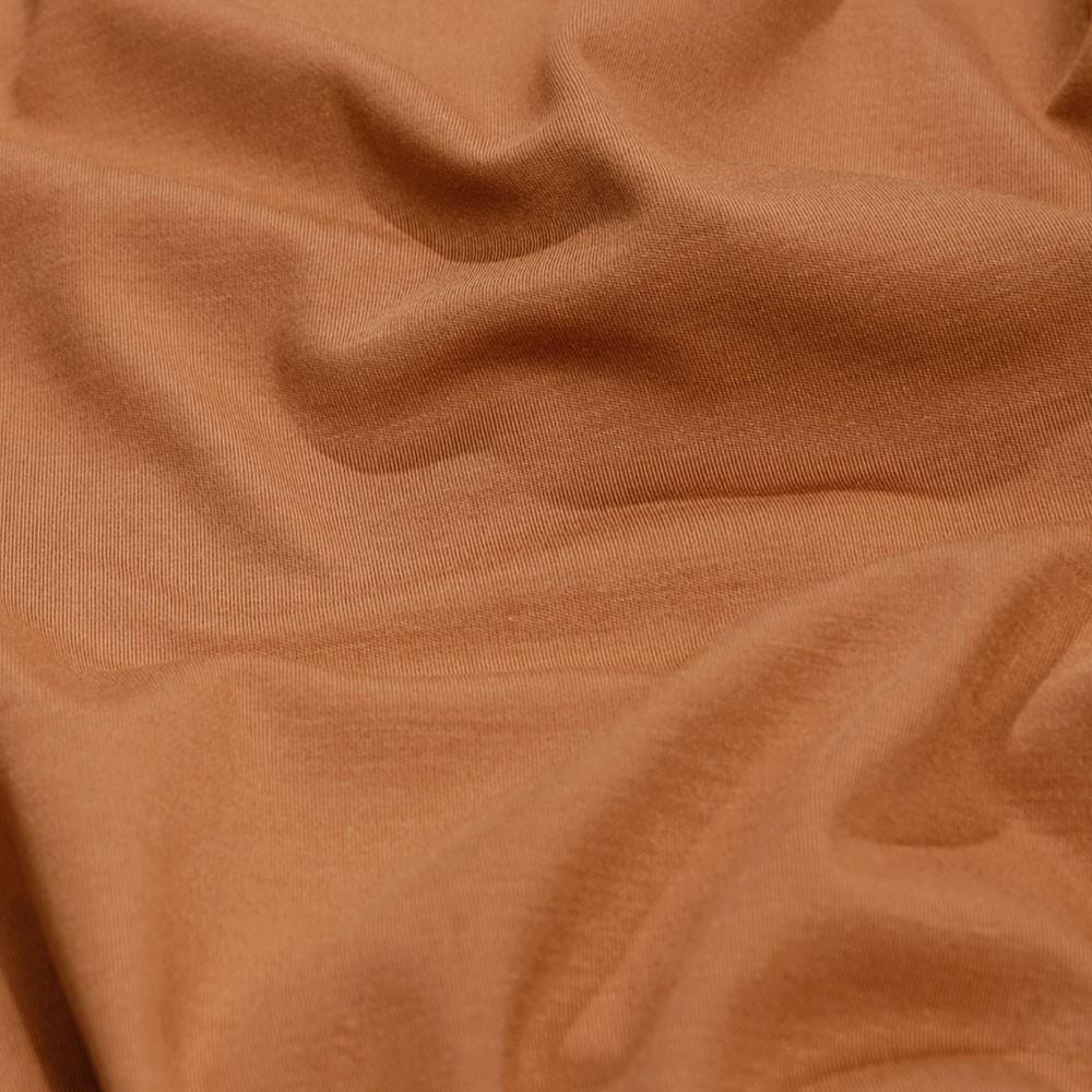achat tissu jersey bambou caramel - pretty mercerie - mercerie en ligne