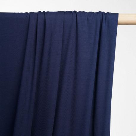 achat tissu jersey bambou bleu éclipse- pretty mercerie - mercerie en ligne