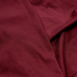 Tissu jersey bambou sangria x 10cm