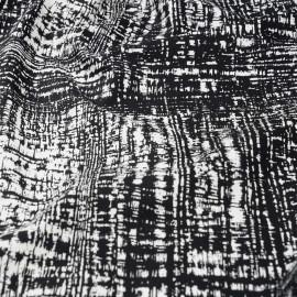 Tissu coton imprimé noir et blanc  x 10cm
