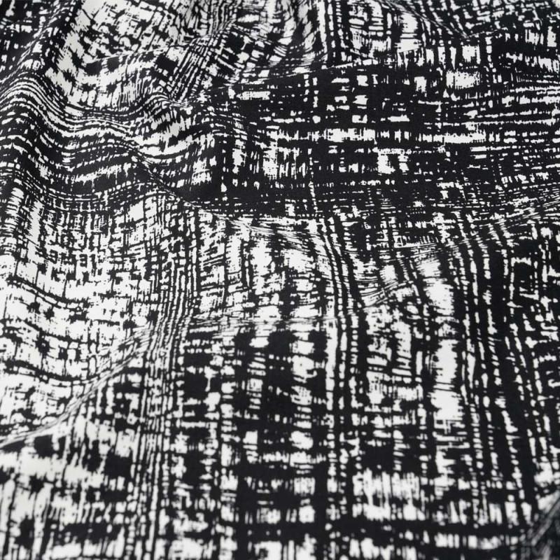 tissu coton imprim blanc et noir pour confection de. Black Bedroom Furniture Sets. Home Design Ideas
