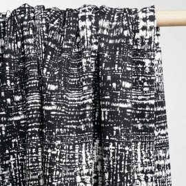 achat tissu coton imprimé noir et blanc  - pretty mercerie - mercerie en ligne