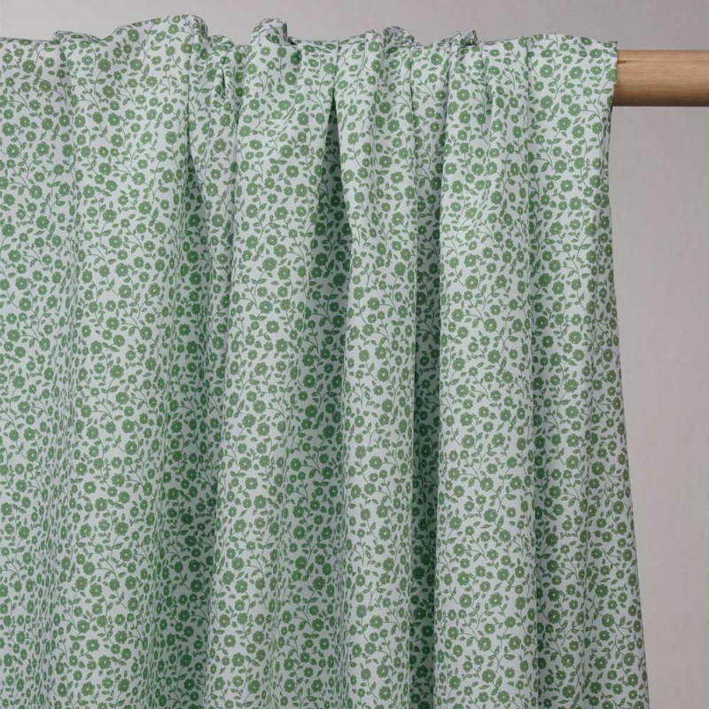 purchase mint green cotton fabric - Pretty Mercerie - haberdashery online
