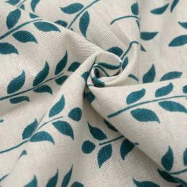 achat tissu toile de coton épis vert - pretty mercerie - mercerie en ligne