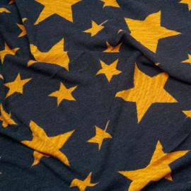 Tissu jersey bleu à motif étoile sunflower x 10cm