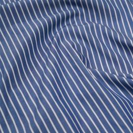 achat tissu coton rayé et tissé bleu, blanc  - pretty mercerie - mercerie en ligne