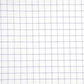 achat tissu coton à carreaux tissé bleu et blanc - pretty mercerie - mercerie en ligne