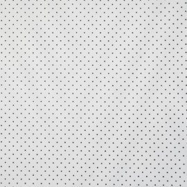 achat tissu doublure blanc à pois noir - pretty mercerie - mercerie en ligne