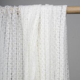 achat tissu guipure coton blanc à bandes - pretty mercerie - mercerie en ligne