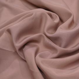 Tissu soie rose tan effet peau de pêche satiné  X 10 cm