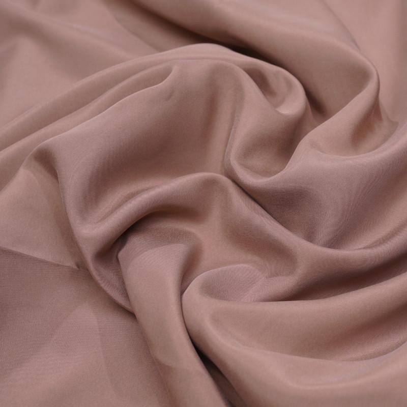 achat tissu soie rose tan effet peau de pêche satiné  - pretty mercerie - mercerie en ligne