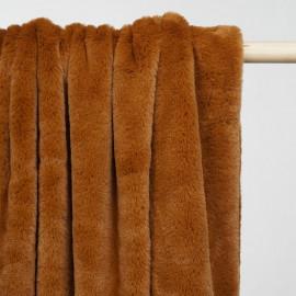 Tissu fausse fourrure caramel x 10cm