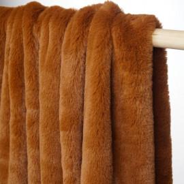 achat tissu fausse fourrure caramel  pretty mercerie - mercerie en ligne