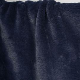 achat tissu fausse fourrure bleu pétrole  pretty mercerie - mercerie en ligne