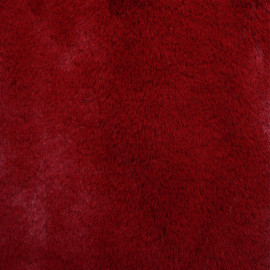 achat tissu fausse fourrure rouge grenat  pretty mercerie - mercerie en ligne
