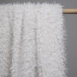 Tissu fausse fourrure effet mouton poils long pristine x 10cm