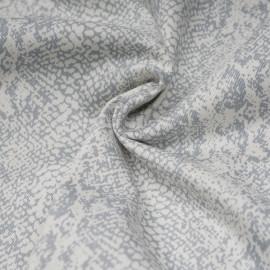 Tissu coton sergé motif peau de serpent  x 10cm
