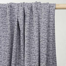 achat tissu jacquard motif africa bleu et blanc - pretty mercerie - mercerie en ligne