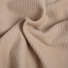 Tissu laine sable  x 10 CM