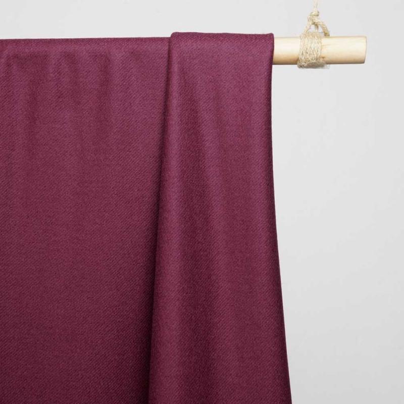 Tissu sergé de laine bordeaux- tissus en ligne - pretty mercerie