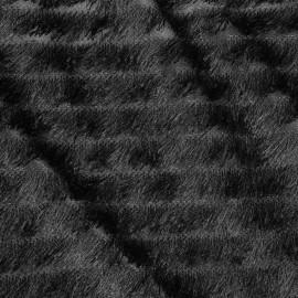 Tissu à frange noir et fils d'argent x 10cm